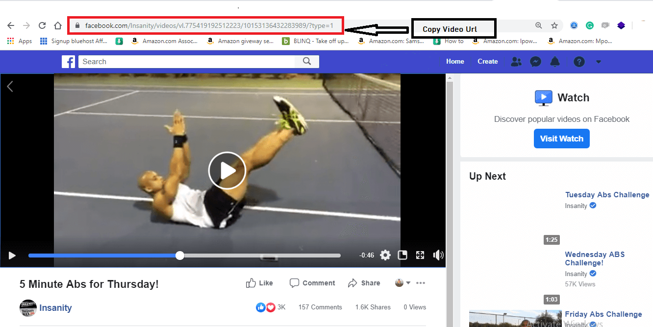 download Facebook video step 1