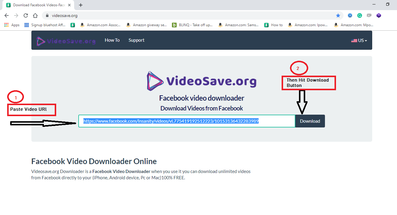 download Facebook video step 2